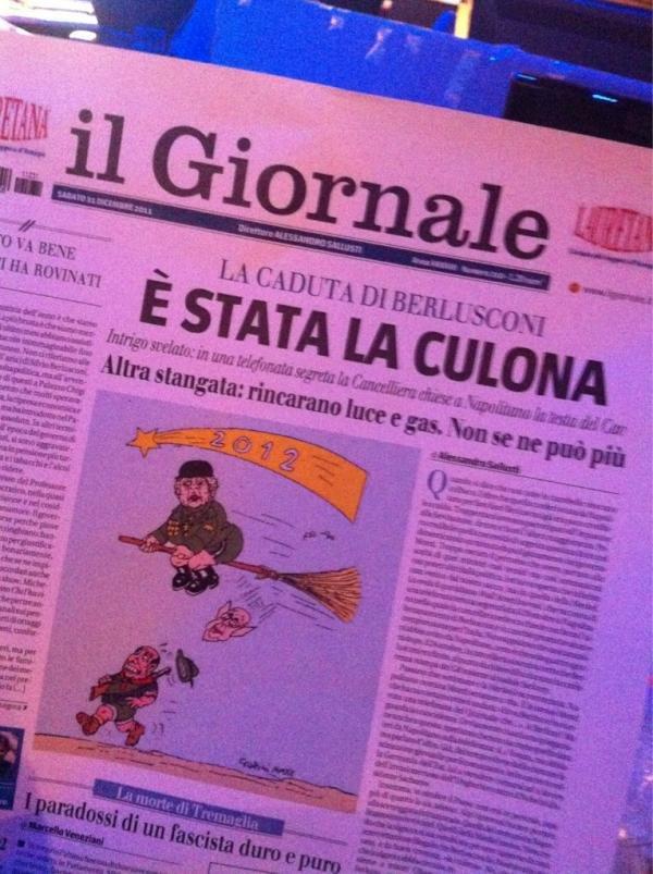 La copertina del giornale